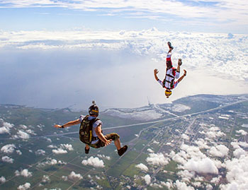 Skydive Spaceland Tandem Freefall Skydive – More info on your first freefall skydive