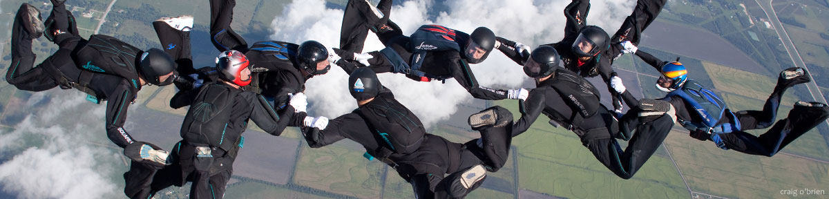Experienced Skydivers: 8-Way Formation