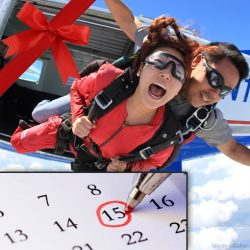 Reservations for tandem skydiving gifts