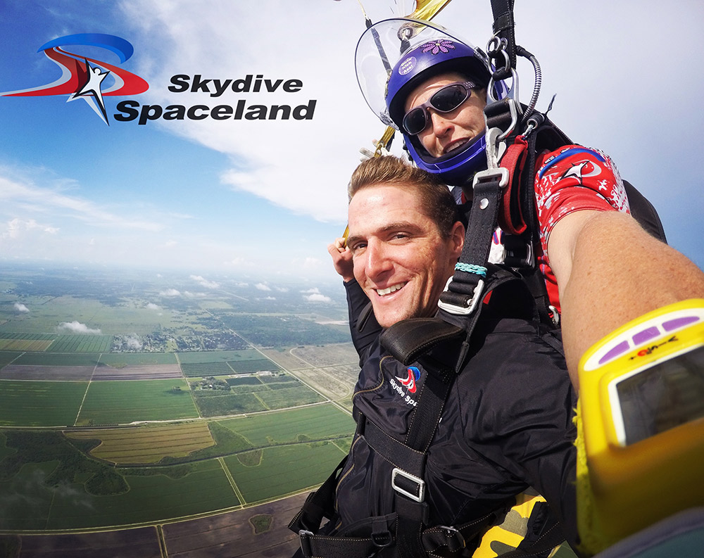 Just hanging out over Skydive Spaceland!