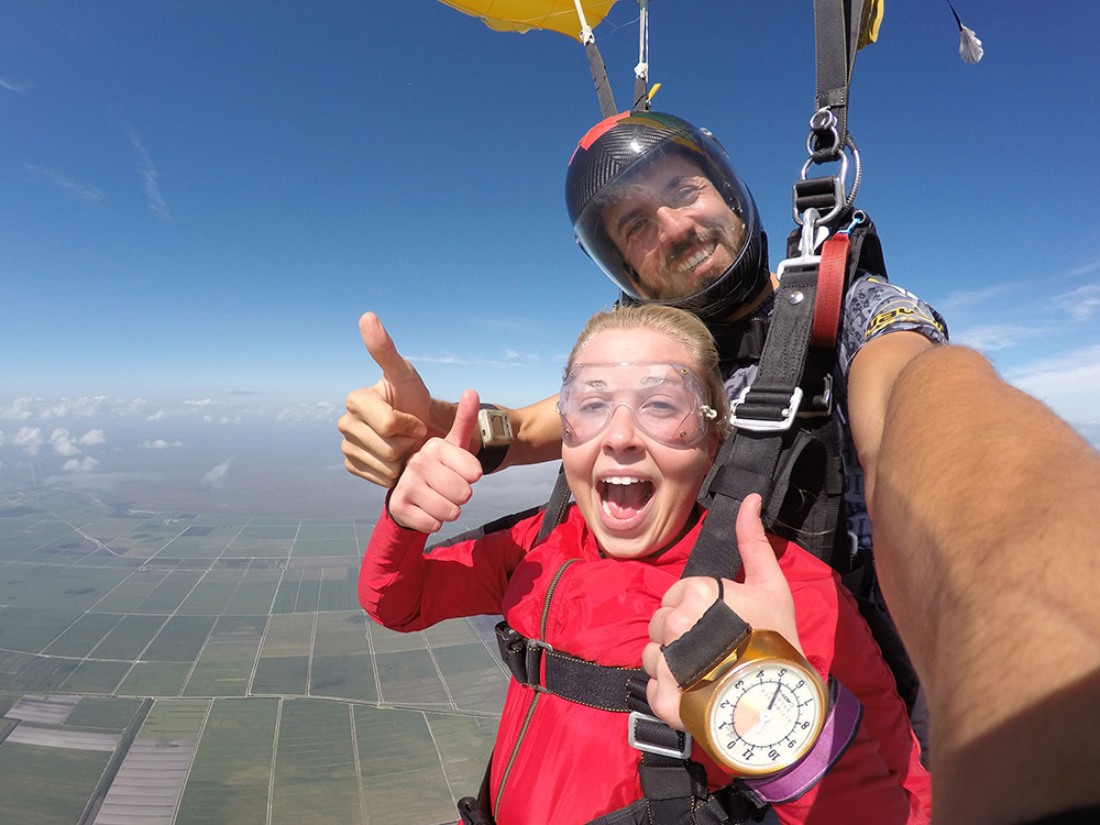 Two thumbs up for Skydive Spaceland!