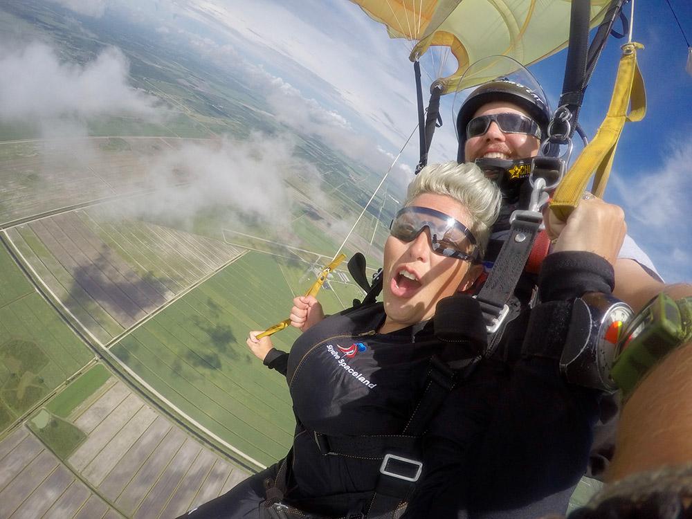 Woohoo at Skydive Spaceland!