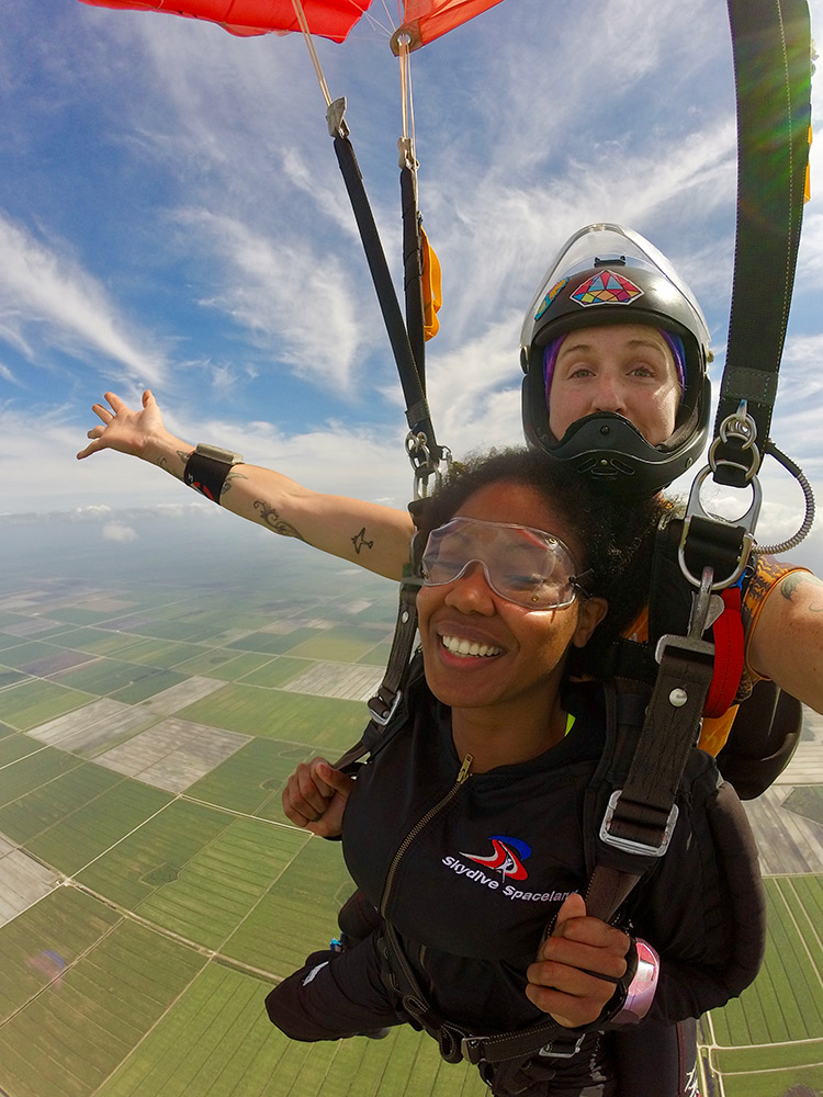 What a view at Skydive Spaceland!